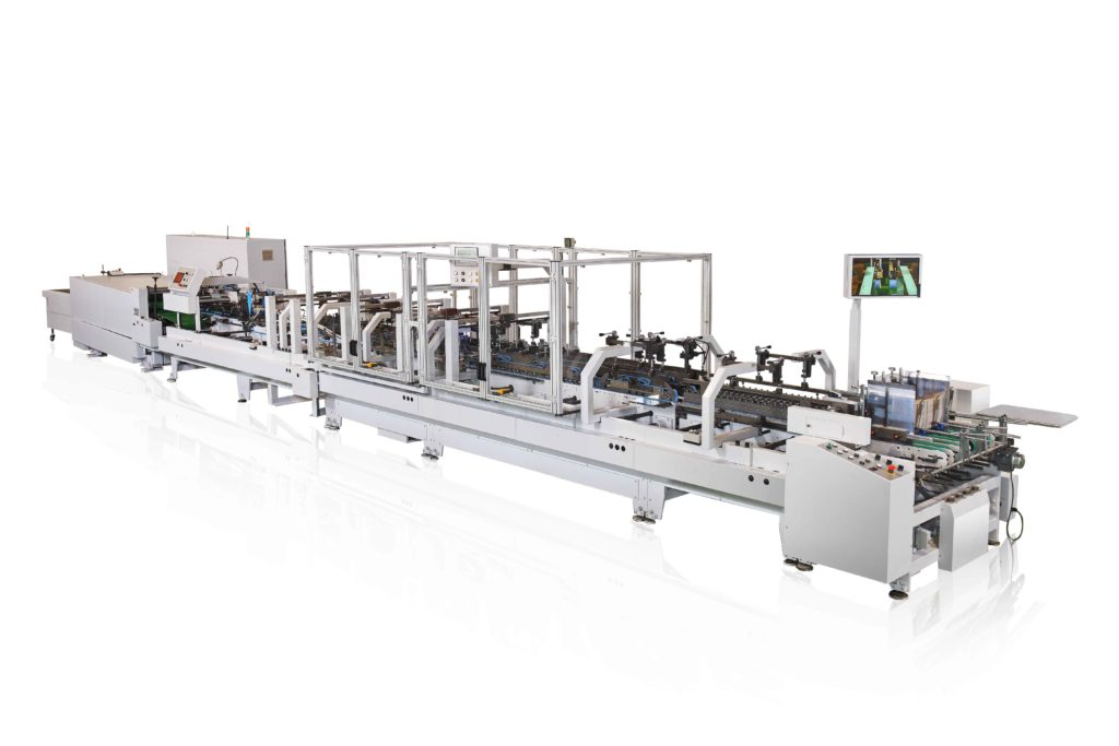 TE-1000WV_High Speed Folding and Gluing Machine